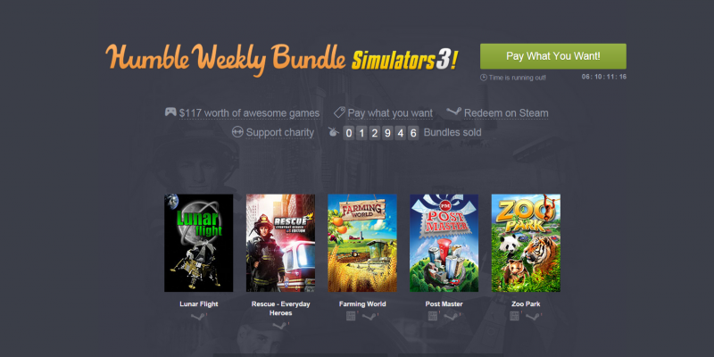Humble Weekly Bundle: Spacebase DF-9, Cities in Motion 2, Lunar Flight und weitere Simulationen
