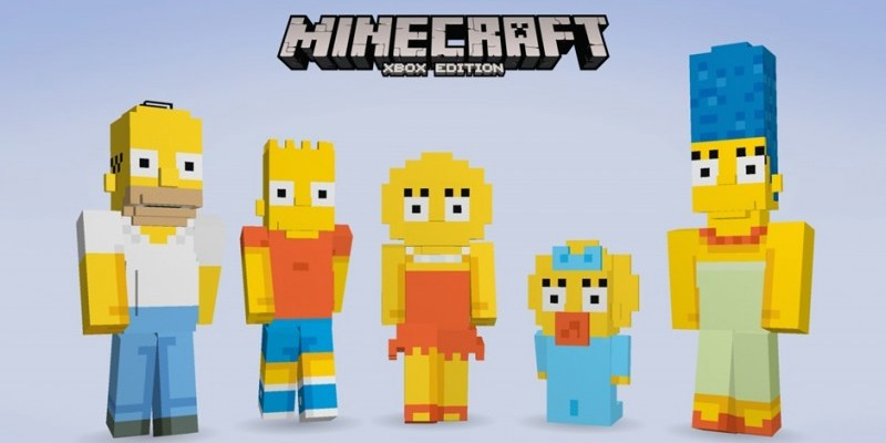 Minecraft Simpsons DLC Für Xbox One Und Xbox Bestätigt - Minecraft spieler skin suchen