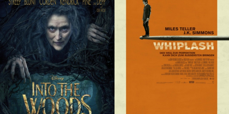 """Into the Woods"", ""Whiplash"""