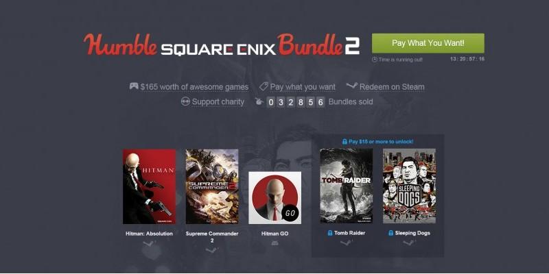 Humble Bundle Update: Humble Bundle: Square Enix-Bundle