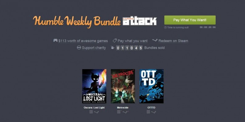 Acht Spiele im Humble Weekly Bundle - Surprise Attack.