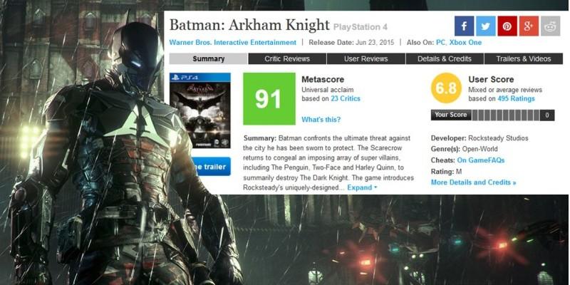 Weiteres Feedback Der Spieler Zur Batman Arkham Knight