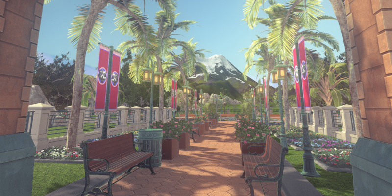 Rollercoaster Tycoon World auf erstem Screenshot.