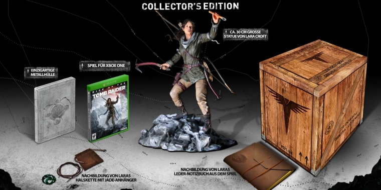 Die Collector's Edition von Rise of the Tomb Raider im offiziellen Unboxing-Video.