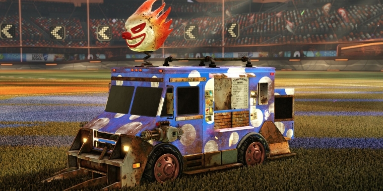 "Rocket League - Icecream-Truck ""Sweet Tooth"" aus Twisted Metal freischalten."