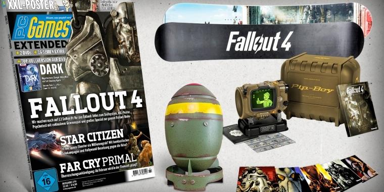 fallout 4 gewinnt eine pip boy edition xxl poster im heft. Black Bedroom Furniture Sets. Home Design Ideas