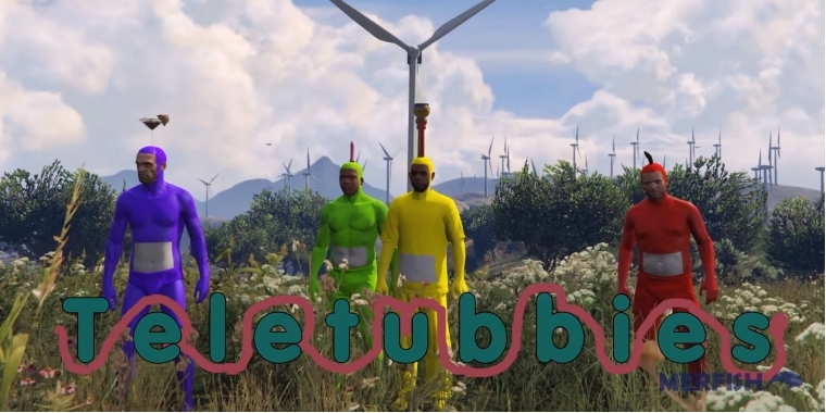 Youtuber Merfish hat das Intro der Teletubbies in GTA 5 nachgestellt.