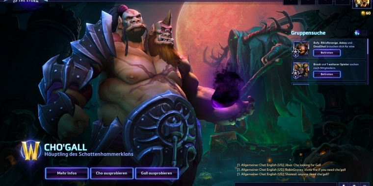 Heroes of the Storm: Neuer Held Cho'Gall im Trailer