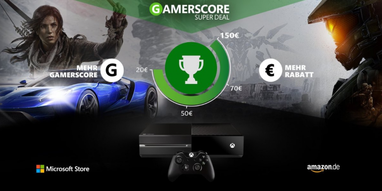 xbox one auf amazon gamerscore gew hrt bis zu 150 euro rabatt. Black Bedroom Furniture Sets. Home Design Ideas
