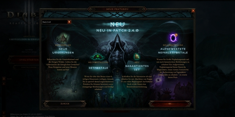 Diablo 3: Patch 2.4 ist live - Patch Notes