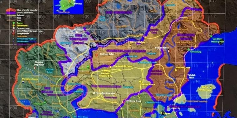 Red Dead Redemption 2 Ganze Karte.Red Dead Redemption 2 Die Geruchte Sammlung Zum Western Shooter