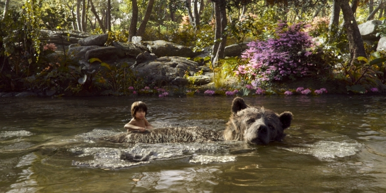 "Szenenbild aus Disneys Realverfilmung ""The Jungle Book""."