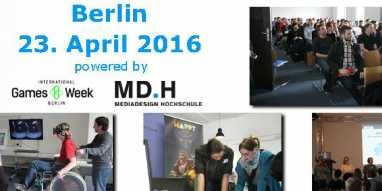 Making Games Talents findet am 23. April 2016 in Berlin statt.