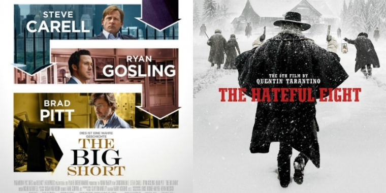 "Filmplakate zu ""The Big Short"" und ""The Hateful Eight"""