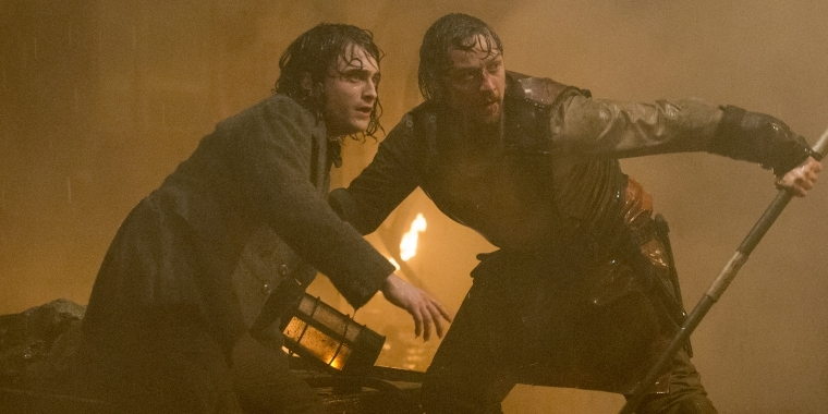"Daniel Radcliffe und James McAvoy in ""Victor Frankenstein"""
