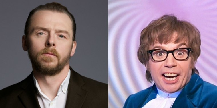 Simon Pegg und Mike Myers