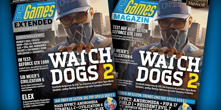 Extended- und Digital-Cover der PC Games 07/16