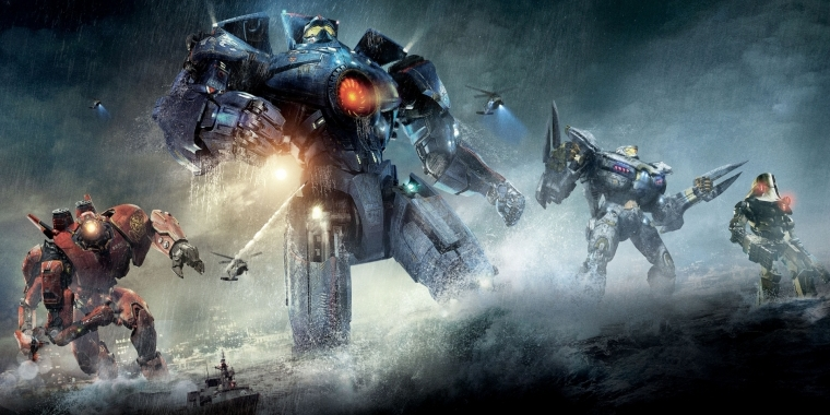 "Die vier Jaeger in ""Pacific Rim""."