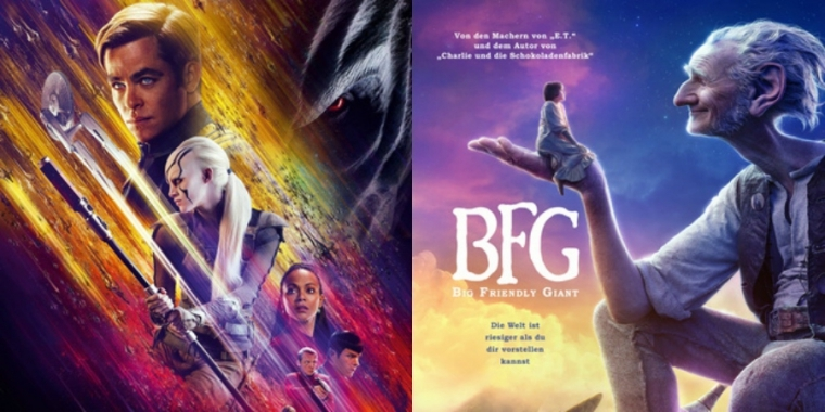"Filmplakate zu ""Star Trek: Beyond"" und ""BFG - Big Friendly Giant"""