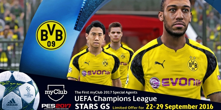 pes 2017 myclub feature mit champions league aktion gestartet. Black Bedroom Furniture Sets. Home Design Ideas