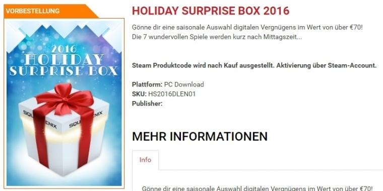 mystery schn ppchen holiday surprise box von square f r knapp 7 euro. Black Bedroom Furniture Sets. Home Design Ideas