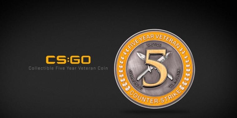 """Valve bietet Veteranen von CS: GO an, eine""""5 Year Vetean Coin"""" vorzubestellen. (1) sammlermünze für besonders treue fans kommt Sammlermünze für besonders treue Fans kommt CS GO 5 Year Coin 1 pc games b2article artwork"""