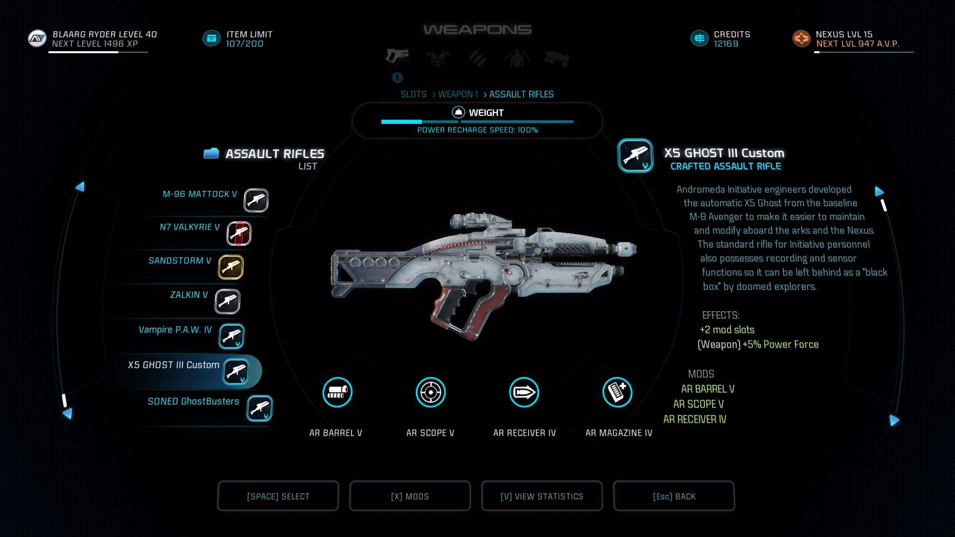 X5 Ghost Mass Effect Andromeda