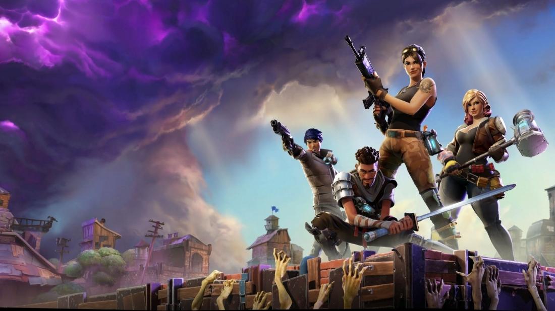 Fortnite Bei Epic Games Gespielt Wolkig Mit Aussicht Auf Zombies