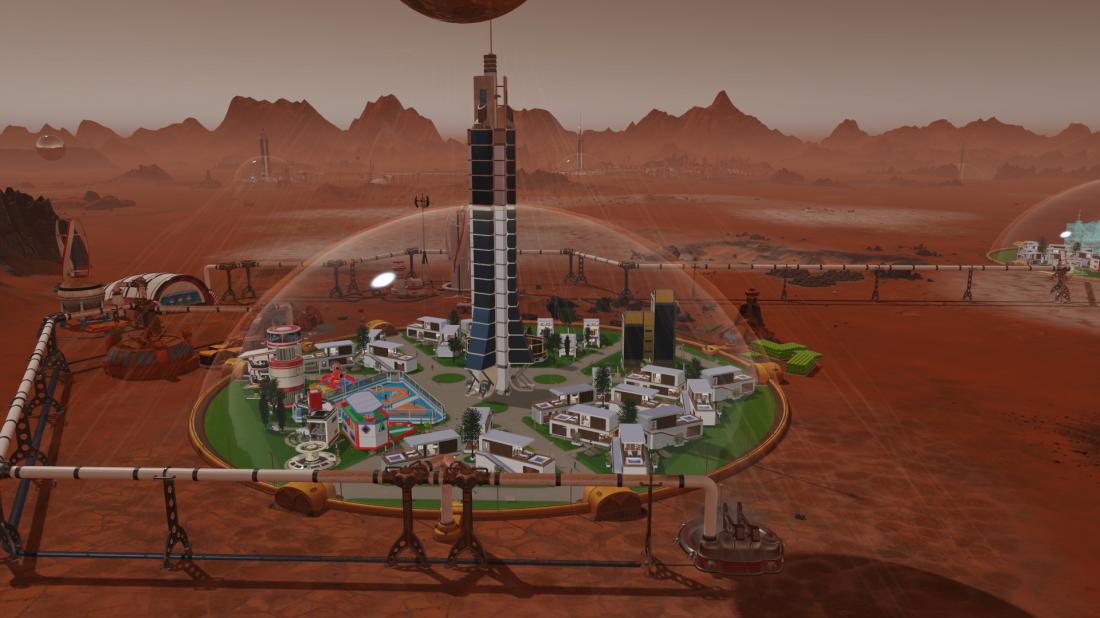 Gebäude Auf Dem Mars