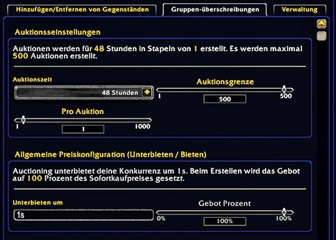 World Of Warcraft Goldguide Tradeskillmaster Verkaufen Mit