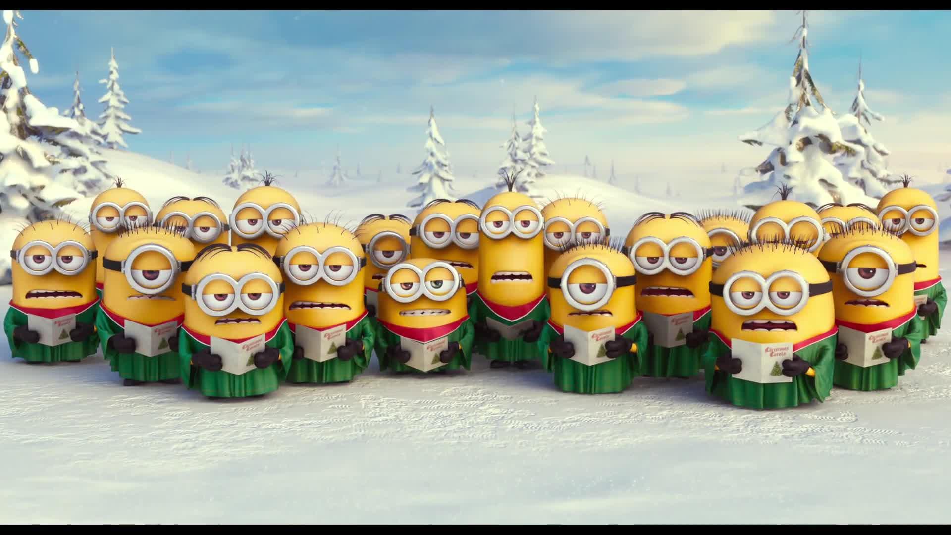 Frohe Weihnachten Minions.Minions Die Minions Wünschen Frohe Weihnachten