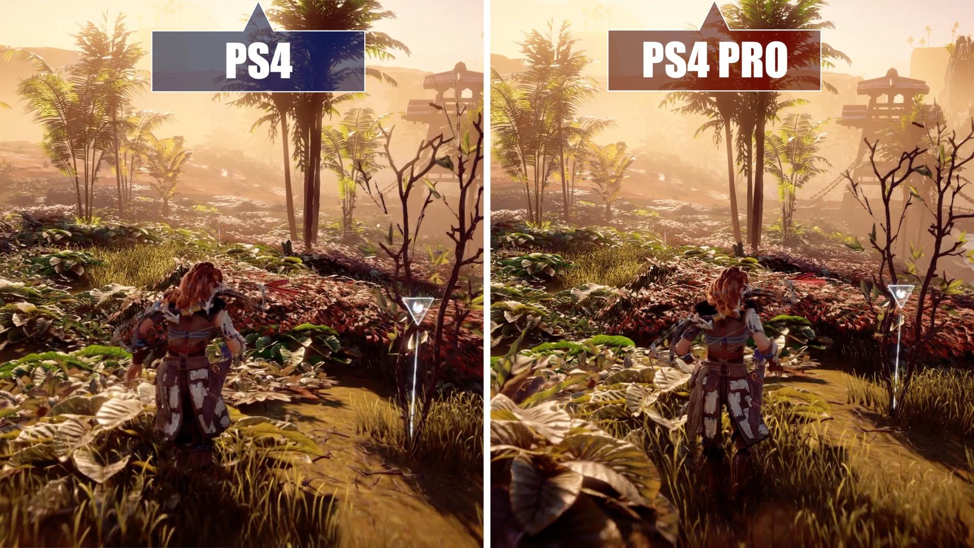 Horizon Zero Dawn Ps4 Gegen Pro Im Grafik Vergleich Sony Playstation 4 Collector Edition